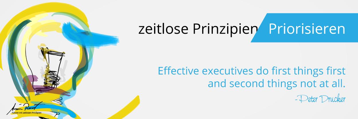 Zeitloses Prinzip: Priorisieren