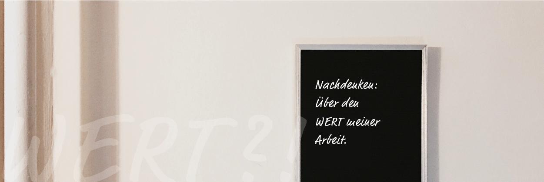 Nachdenken: Über Den WERT Der Arbeit.